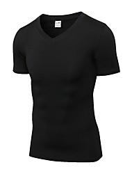 abordables -Homme Tee-shirt de Course Manches Courtes Respirabilité Tee-shirt pour Exercice & Fitness Polyester Vert / Bleu / Gris L / XL / XXL