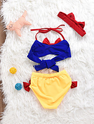 cheap -Girls' Sexy Patchwork Swimwear, Cotton Spandex Sleeveless Royal Blue