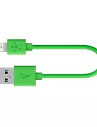 Недорогие -Подсветка Адаптер USB-кабеля Быстрая зарядка Высокая скорость Кабель Назначение iPhone 120 cm ПВХ