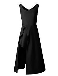 Žene Korice Haljina - S izrezom, Jednobojni