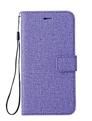 Недорогие -Кейс для Назначение Google Pixel 2 XL Pixel 2 Бумажник для карт Кошелек со стендом Флип Чехол Сплошной цвет Твердый Кожа PU для Pixel 2