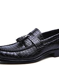 abordables -Homme Chaussures Tulle Automne / Hiver Chaussures de plongée Mocassins et Chaussons+D6148 Noir / Marron / Rouge
