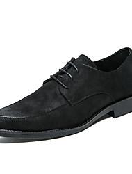 Pánské Obuv Kůže Jaro Léto Společenské boty Oxfordské Nýty pro Svatební Party Černá