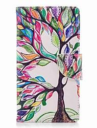 Недорогие -Кейс для Назначение Sony Xperia L2 Xperia XA2 Ultra Бумажник для карт Кошелек со стендом Флип С узором Чехол дерево Твердый Кожа PU для