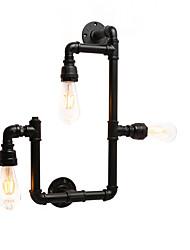Недорогие -винтажные промышленные трубы настенные светильники черные креативные огни ресторан кафе бар настенные светильники 3-светлая отделка