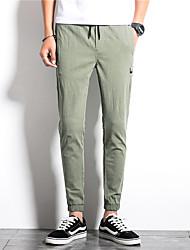 Недорогие -мужские нормальные среднего роста микро-эластичные брюки гарем, марочное твердое волокно из бамбукового волокна из хлопка