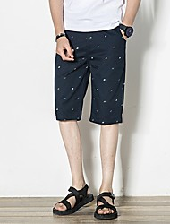 abordables -Hombre Tallas Grandes Shorts Pantalones - Floral