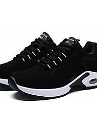 baratos -Homens sapatos Borracha Primavera Outono Conforto Tênis para Ao ar livre Branco/Preto Preto/Vermelho