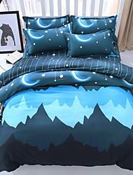 Conjunto de Capa de Edredão Desenho Animado 3 Peças Poliéster/Algodão 100% algodão Impressão Reactiva Poliéster/Algodão 100% algodão 1pç