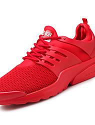 baratos -Homens sapatos Tricô Courino Tule Primavera Outono Conforto Tênis Caminhada Corrida para Atlético Casual Branco Preto Vermelho