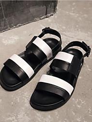 Pánské Obuv PU Léto Pohodlné Sandály pro Ležérní Černá