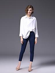 baratos -Mulheres Camisa Social Negócio Activo Sólido