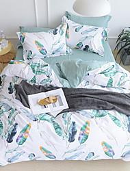 baratos -Conjunto de Capa de Edredão Floral Poliéster / Algodão / 100% algodão Impressão Reactiva 3 PeçasBedding Sets