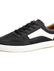 povoljno -Muškarci Cipele PU Proljeće Jesen Udobne cipele Sneakers za Kauzalni Crn Sive boje Braon