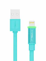 Недорогие -Подсветка Плоские / Высокая скорость / Быстрая зарядка Кабель iPhone для 100 cm Назначение TP