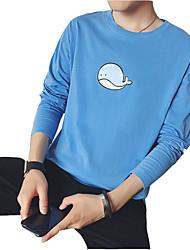 muška pamučna tanka majica - čvrsta
