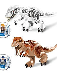 cheap -LELE Building Blocks Dinosaur Animals Animals Toy Toy Gift