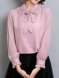 cheap -Women's Blouse - Solid, Basic