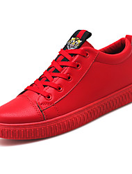 cheap -Men's Shoes PU Spring Fall Comfort Sneakers Rivet for Casual Black Red