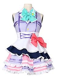 abordables -Inspiré par Aime la vie Autre Manga Costumes de Cosplay Costumes Cosplay Autre Sans Manches Cache-col 1 Bracelet Robe Nœud papillon Plus