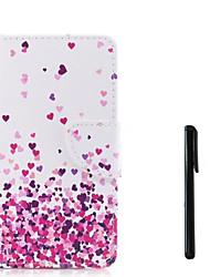 Недорогие -Кейс для Назначение Apple iPhone X / iPhone 8 Pluss / iPhone 8 Кошелек / Бумажник для карт / Флип Чехол С сердцем Твердый Кожа PU