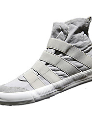 Herre Sko Kanvas Forår Komfort Sneakers for Afslappet Sort Grå Blå Bourgogne
