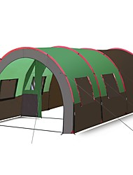 baratos -Hewolf 10 pessoas Tenda Dupla Camada Barraca de acampamento Três Quartos Ao ar livre Barraca de Acampamento Familiar Leve / Á