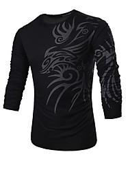cheap -Men's T-shirt - Geometric Round Neck