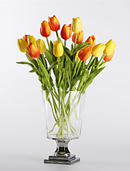 Недорогие -Искусственные Цветы 10 Филиал Modern / Европейский стиль Тюльпаны Букеты на стол