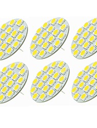 cheap -SENCART 6pcs 5W 540 lm G4 LED Bi-pin Lights T 18 leds SMD 5730 Decorative Warm White Cold White 12-24V