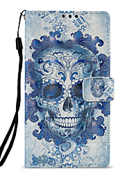 cheap -Case For Sony Xperia L2 Xperia XZ2 Card Holder Wallet with Stand Flip Pattern Full Body Cases Skull Hard PU Leather for Xperia XA2 Xperia