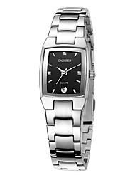 Недорогие -CADISEN Муж. Кварцевый Нарядные часы Модные часы Японский Календарь Защита от влаги Повседневные часы Нержавеющая сталь Группа Elegant