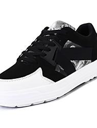 baratos -Homens sapatos Pele Nobuck Primavera Outono Conforto Tênis para Atlético Preto Arco-íris