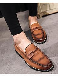 abordables -Homme Chaussures Cuir Cuir Nappa Printemps Automne Confort Mocassins et Chaussons+D6148 pour Décontracté Noir Marron