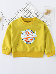 cheap -Baby Unisex Daily Solid Print Blouse, Cotton Spring Fall Cute Active Long Sleeves White Yellow