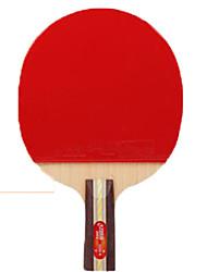 abordables -DHS® 3006-3007 Ping Pang/Tabla raquetas de tenis Caucho 3 Estrellas Mango Corto Las espinillas
