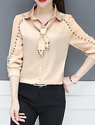 cheap -Women's Basic Blouse Shirt Collar