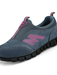 cheap -Women's Shoes Nubuck leather Spring Fall Comfort Athletic Shoes Walking Shoes Flat Heel Round Toe for Athletic Gray Black/White Dark Red