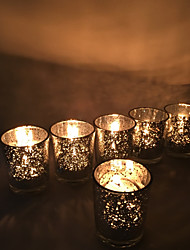 cheap -European Style / Modern / Contemporary Glass Candle Holders 6pcs, Candle / Candle Holder