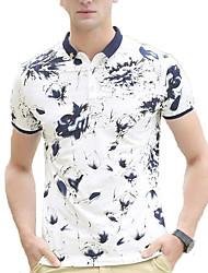 cheap -Men's Polo - Floral Shirt Collar / Short Sleeve