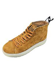 cheap -Men's Pigskin Winter Comfort Sneakers Black / Khaki