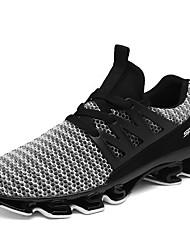 abordables -Homme Chaussures PU de microfibre synthétique Polyuréthane Tulle Printemps Eté Confort Chaussures d'Athlétisme Marche Cyclisme Randonnée