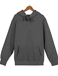 cheap -Men's Long Sleeves Hoodie - Solid Colored