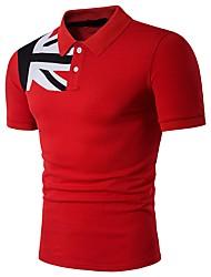 Homens Camiseta Negócio Básico, Geométrica