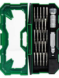 abordables -Teléfono móvil Kit de herramientas de reparación Magnetizado 25 in 1 Extensión para destornillador Destornillador Ventosa Plástico /