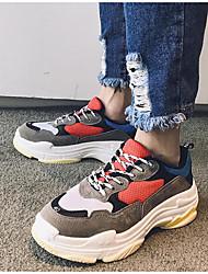 preiswerte -Herrn Unisex Schuhe Tüll Frühling Herbst Komfort Sneakers für Normal Draussen Schwarz Dunkelgrau Rot