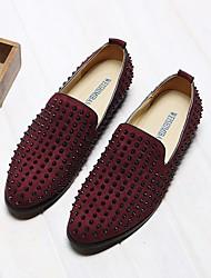 abordables -Homme Chaussures Cuir Eté Confort Mocassins et Chaussons+D6148 Rivet pour Décontracté Bourgogne