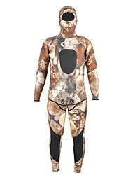 abordables -YON SUB Homme Combinaison  Intégrale 7mm SCR Néoprène Combinaisons Coque Intégrale camouflage Automne / Printemps / Eté