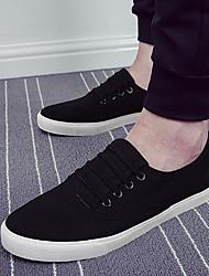 baratos -Homens sapatos Tecido Verão Conforto Tênis para Casual Branco Preto Azul