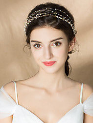 cheap -Imitation Pearl Headbands with Imitation Pearl 1pc Wedding Party / Evening Headpiece